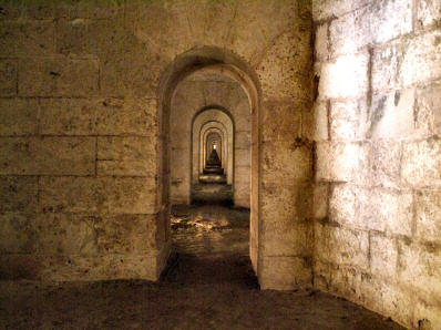 The Llop-Holed Gallery of the Fortress of Isabel II - La Mola
