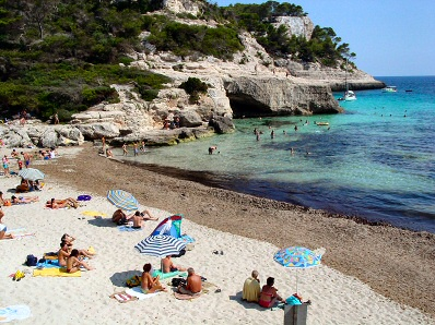 Cala Mitjana Beaches Ferreries Pictures Menorca MenorcaWeb